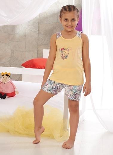Zeyzey Pijama Takım Sarı